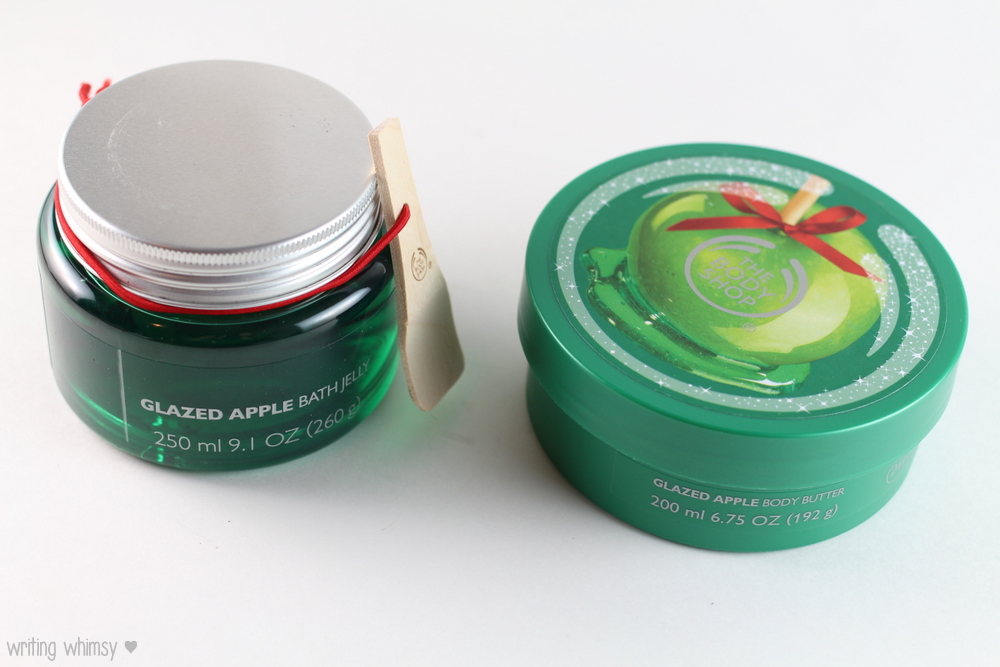 The Body Shop Glazed Apple Bath Jelly and Body Butter - WRITING WHIMSY