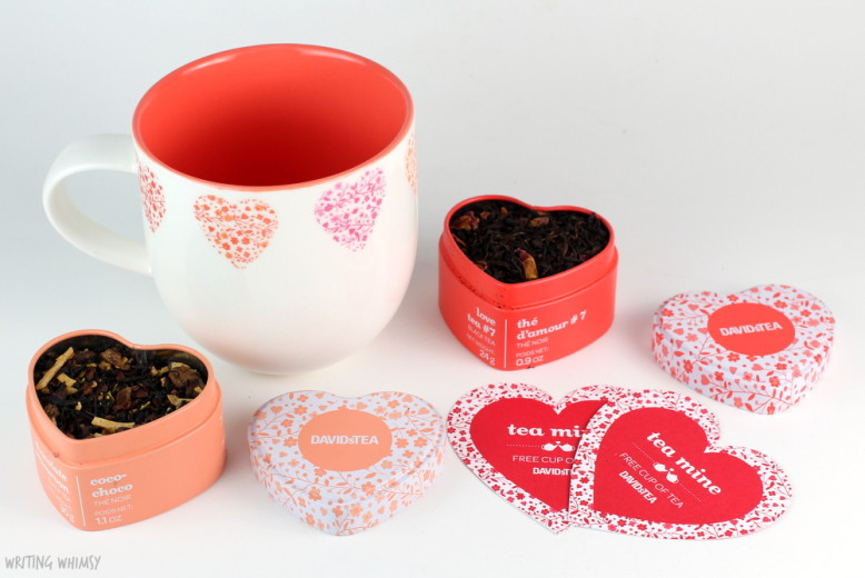 DAVIDsTEA Valentine's Day Gifts Chocolate Macaroon Heart-Shaped Tin