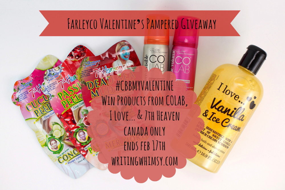 Farleyco Valentine's Pampered Giveaway #CBBMyValentine