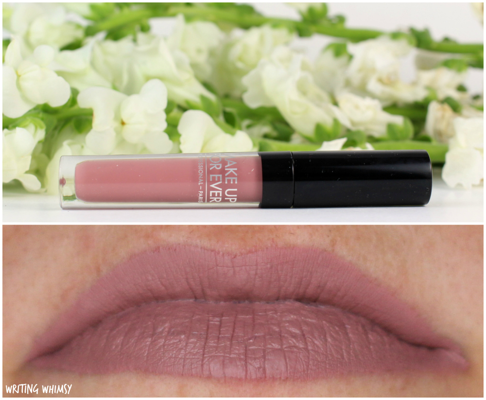 3- MAKE UP FOR EVER Artist Liquid Matte Lipstick 105 Rosewood Swatches