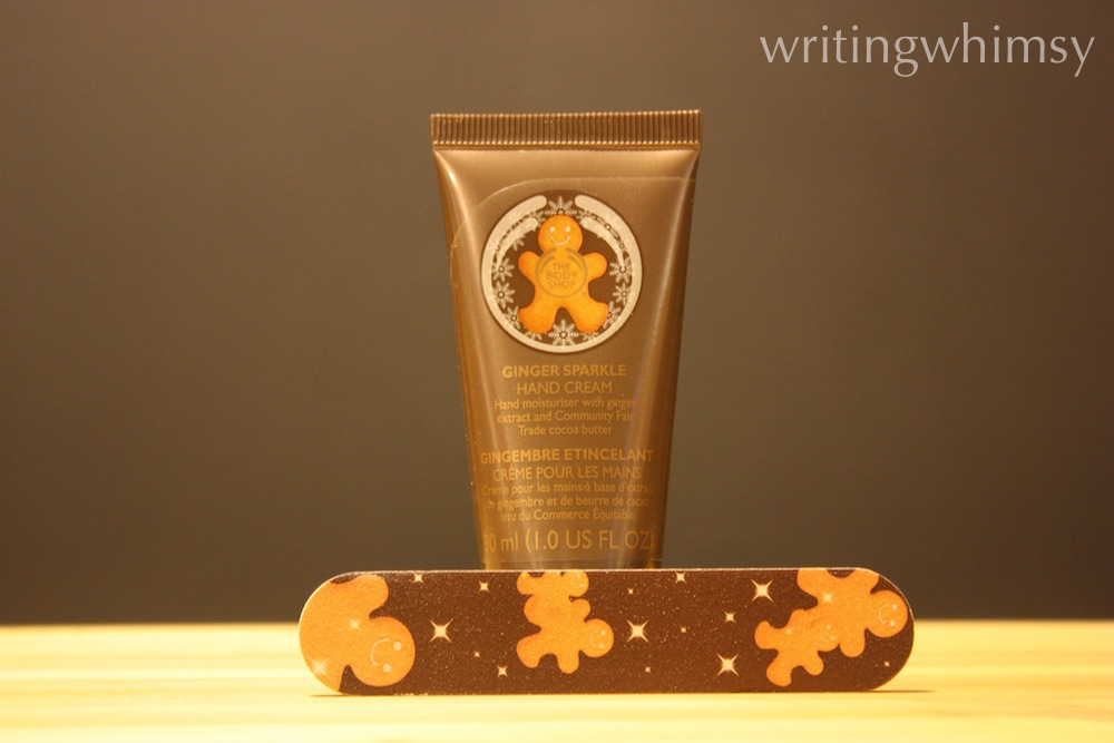 The Body Shop Ginger Sparkle Hand Cream 4