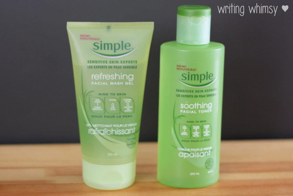 Simple Refreshing Facial Wash Gel and Simple Soothing Facial Toner 2
