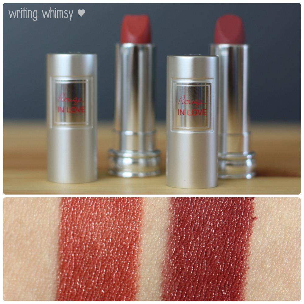 1-Lancome Rouge in Love Lipcolour in Rose Rendezvous 230M and Jolie Rosalie 275M Collage