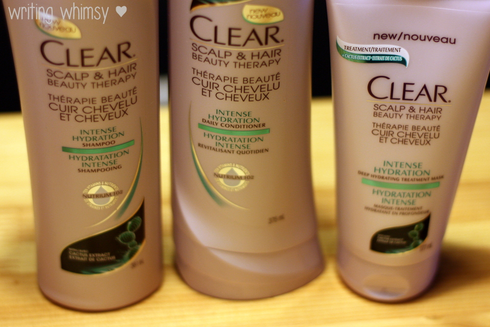 Clear Intense Hydration Shampoo, Conditioner and Mask