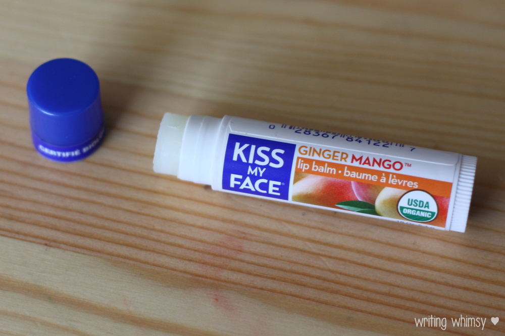 Kiss My Face Shimmer in Garnet and Lip Balm in Ginger Mango 4