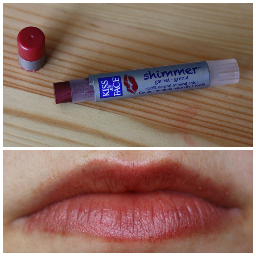 Kiss My Face Shimmer in Garnet and Lip Balm in Ginger Mango