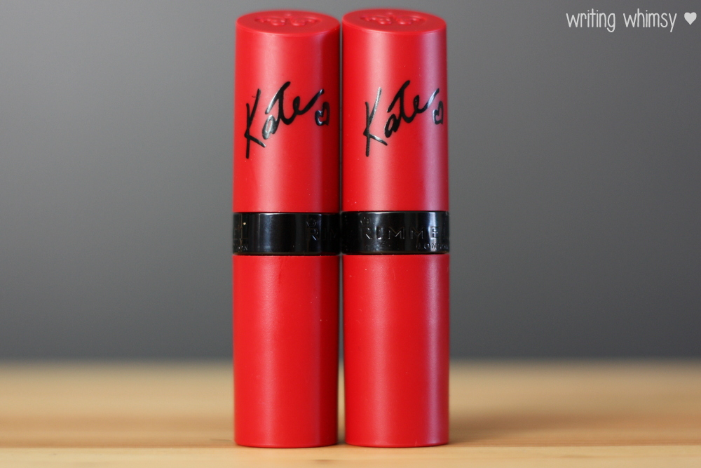 Rimmel London Lasting Finish Matte Lipstick by Kate Moss in #102 and #105 4