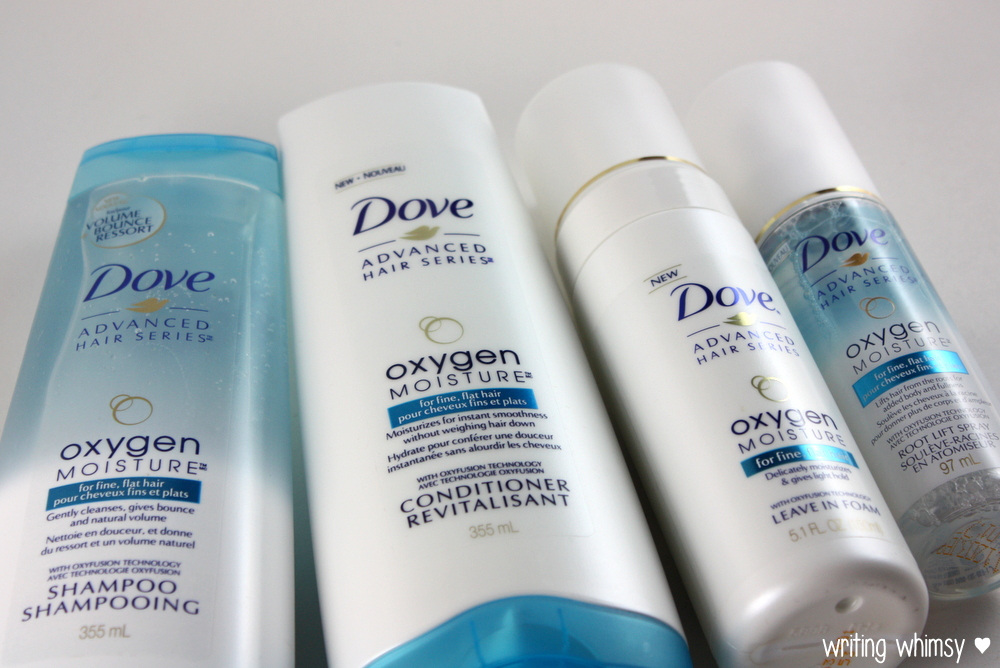 Dove Oxygen Moisture Shampoo, Conditioner, Leave-in Foam and Root Lift Spray 2