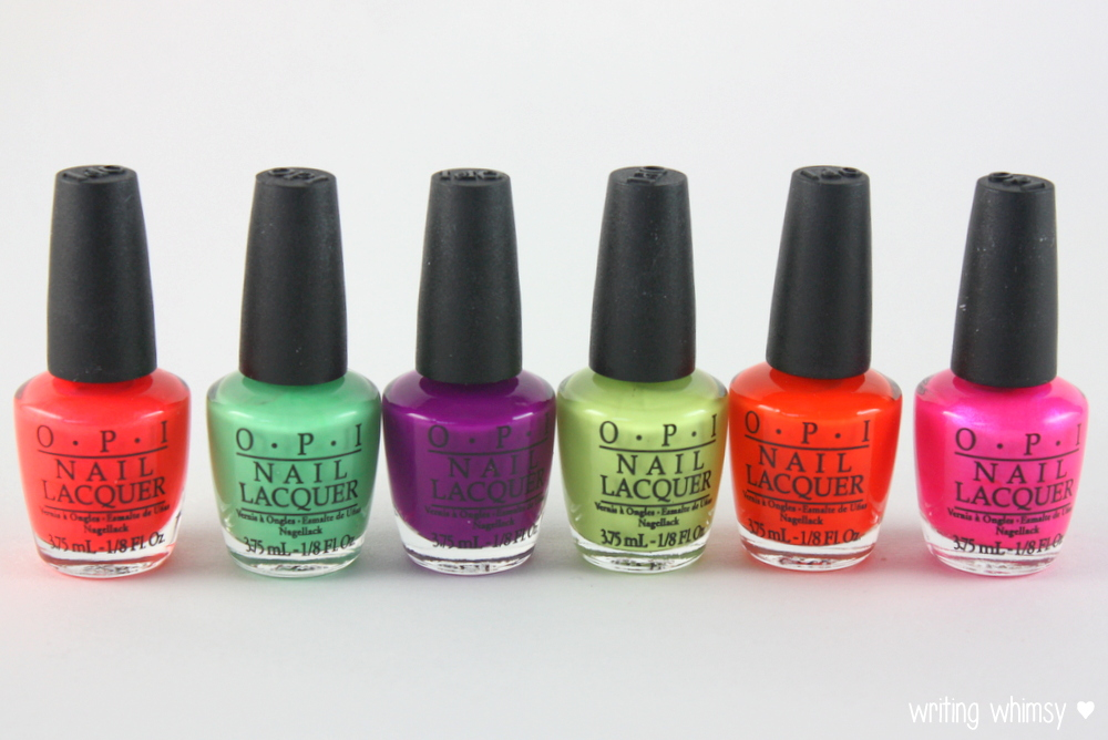OPI Little Bits of Neon Summer 2014 7