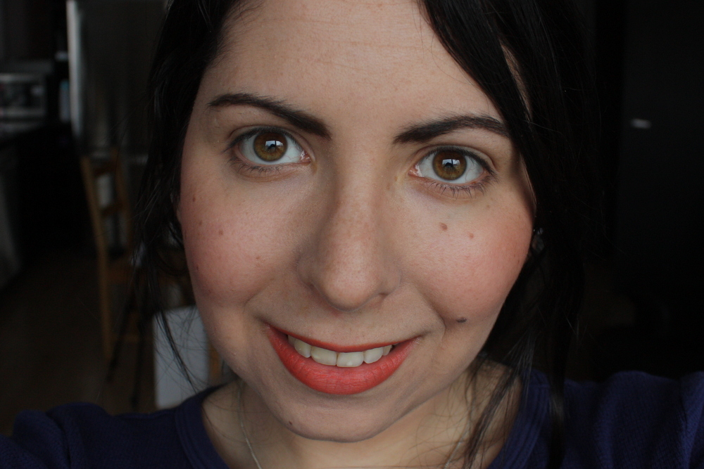Smashbox Halo Long Wear Blush in Peachy Dream and Megatint Long Wear Lip Colour in Mimosa 81