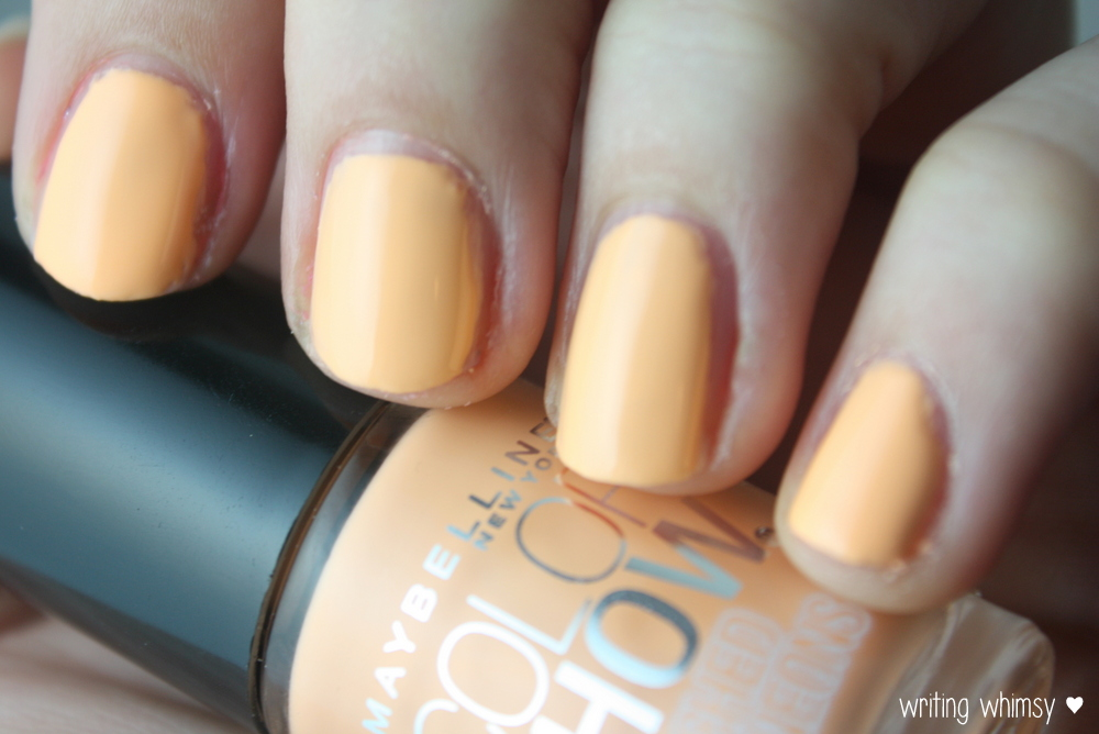 Maybelline Bleached Neons Bleached in Peach 3