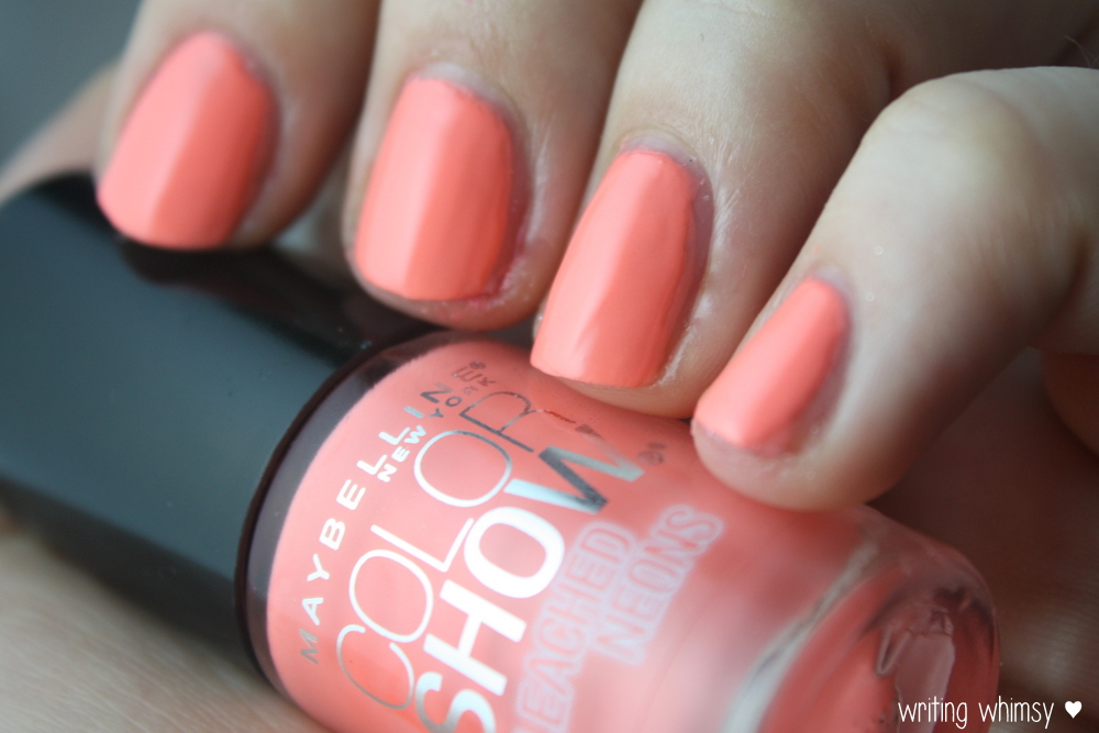 Maybelline Bleached Neons Coral Heat 3