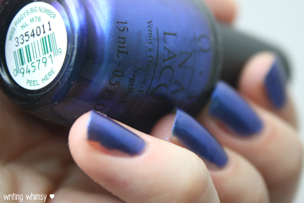 OPI Muppets Most Wanted Miss Piggy's Big Number 2