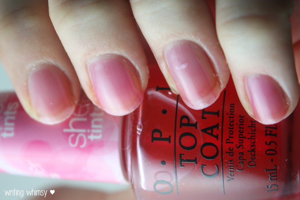 OPI Sheer Tints Top Coat I'm Never Amberrassed & Be Magentale with ...