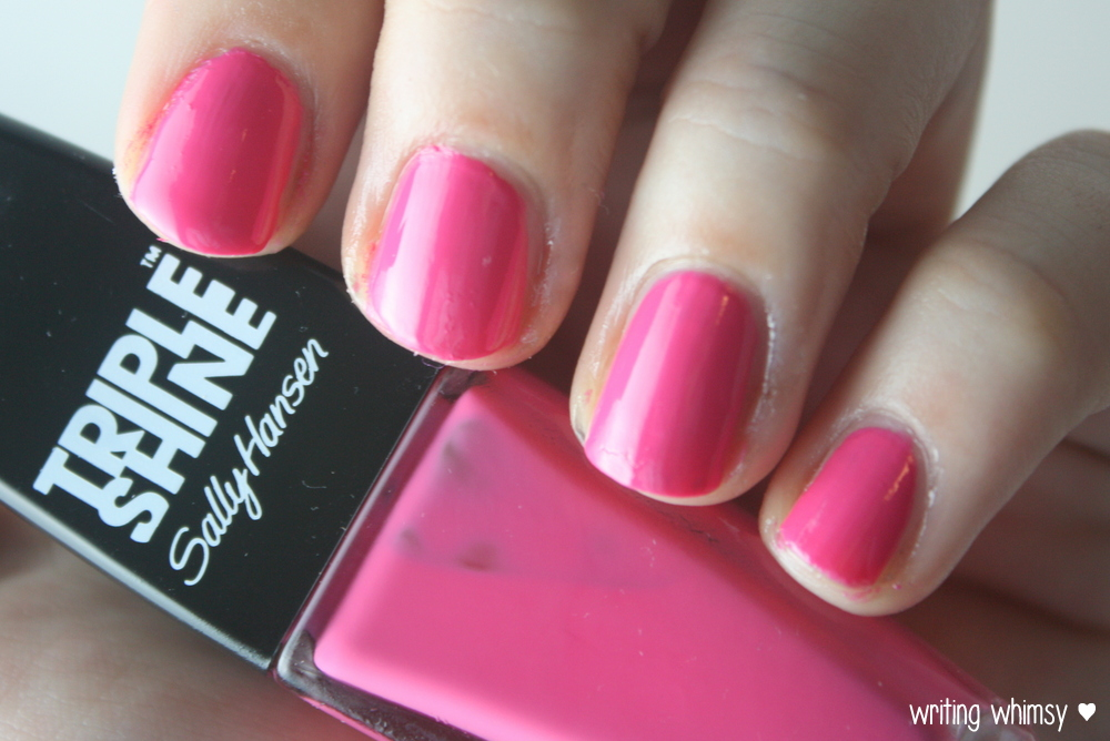 Sally Hansen Tahiti Sunset Pink Coconut and Changing Tides  6