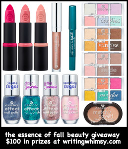 The essence of Fall Beauty Giveaway hosted by writingwhimsy.com