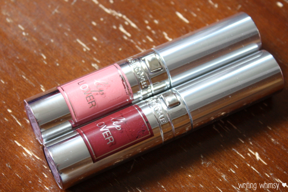 Lancome Lip Lover in Rose Ballet and Bordeaux Tempo