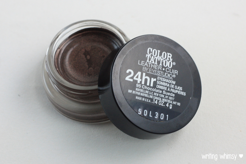 Maybelline Color Tattoo Leather in Chocolate Suede 2