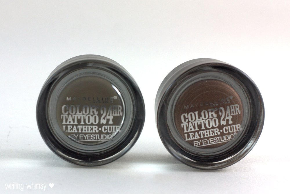 Maybelline Color Tattoo Leather in Deep Forest and Chocolate Suede 2