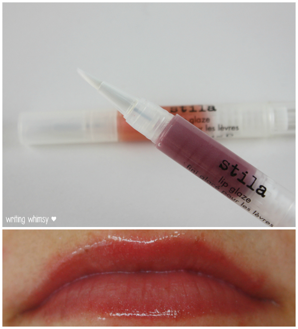 Stila Lip Glaze in Kaleidoscope and Berry 2