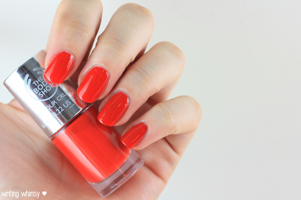 The Body Shop Color Crush Nail Polish Red My Mind 2