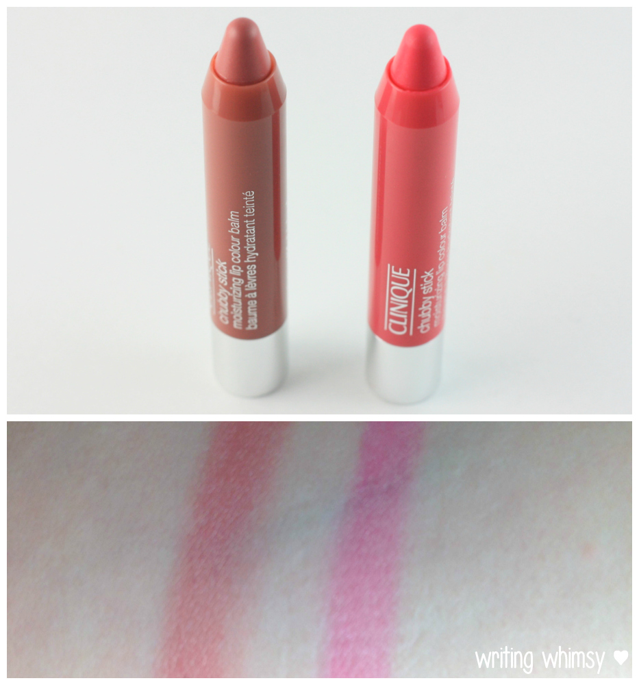 Clinique Chubby Stick in Bountiful Blush and Plumped Up Pink 3 copy
