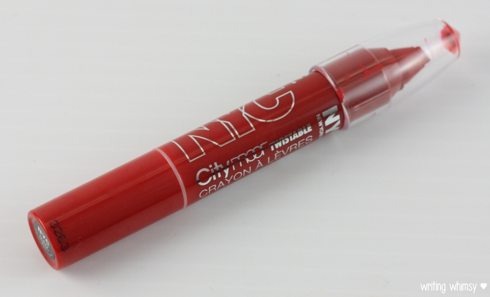 NYC Cityproof Lip Crayon in South Ferry Berry 3