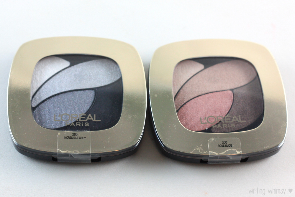 L'Oreal Color Riche Eyeshadow Palette Incredible Grey  Rose Nude