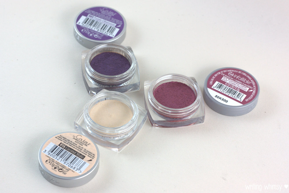 L'Oreal Infallible in Purple Obsession, Coconut Shake & Glistening Garnet