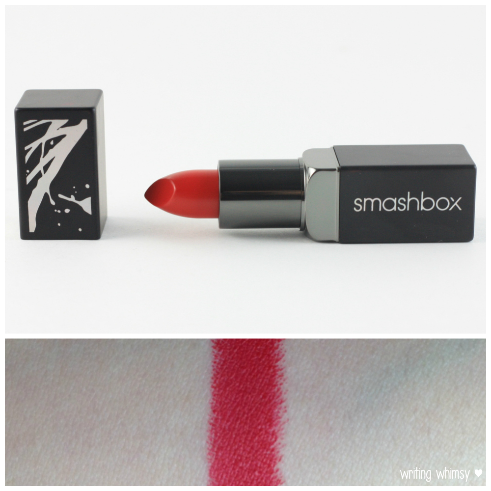 1-Smashbox Cherry Smoke Be Legendary Bing Lipstick Collage