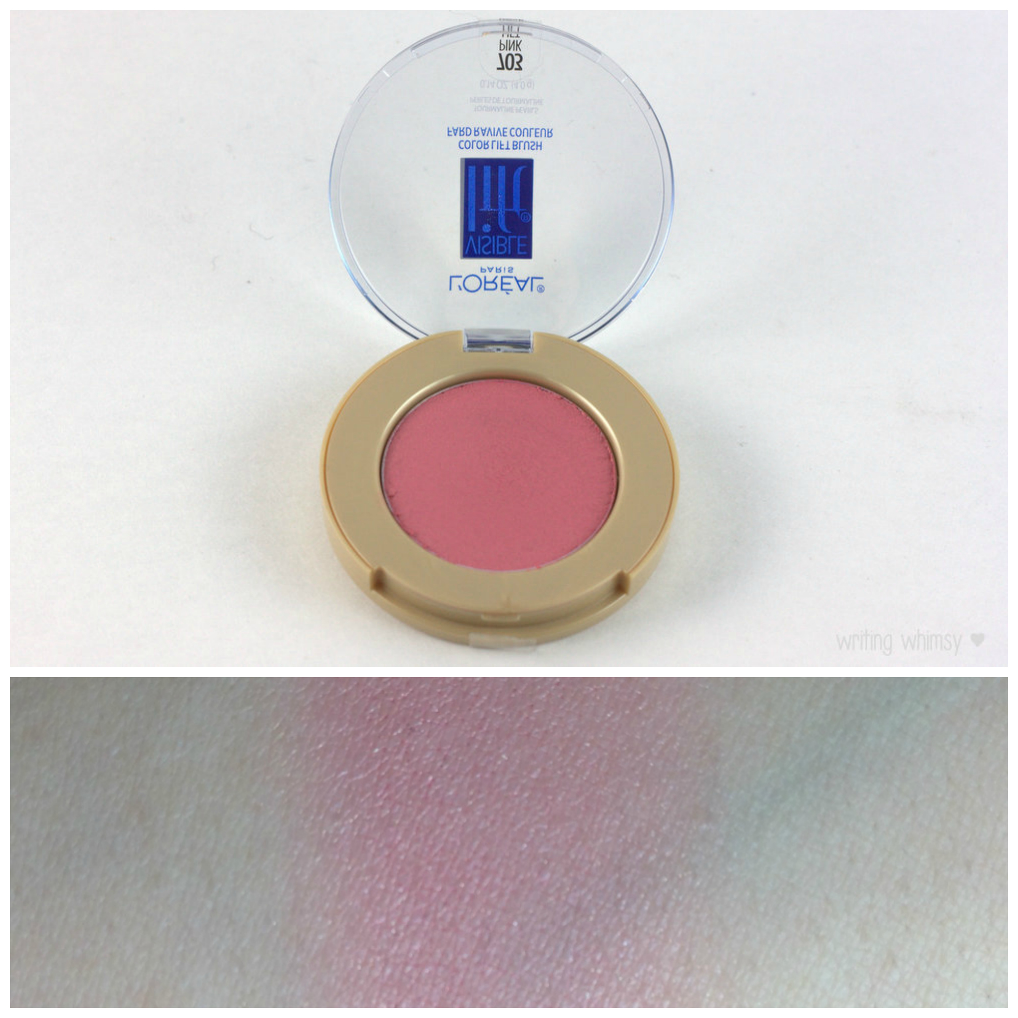 L'Oreal Visible Lift Color Lift Blush in Pink Lift Collage