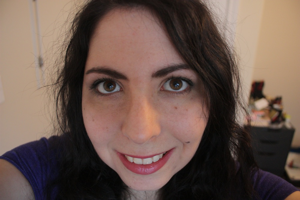 Lancome L'Absolu Rouge Lipstick in Rose Amnesia and Rose Comtesse 4