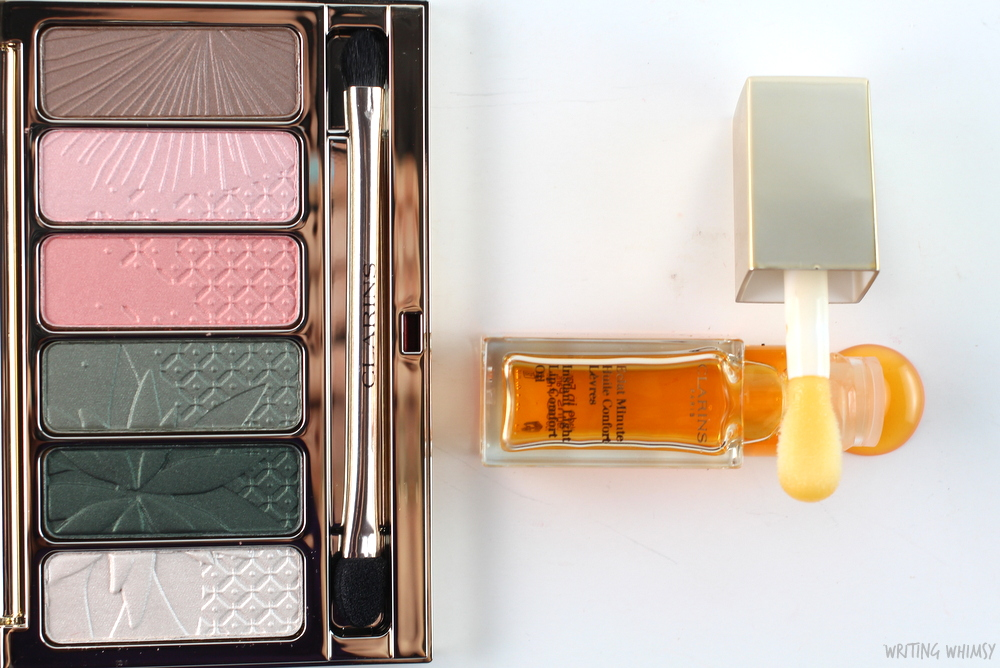 Clarins Garden Escape 6-Colour Eye Palette and Instant Light Lip Comfort Oil