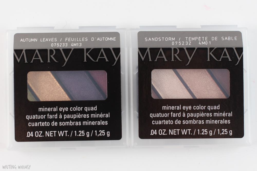 Mary Kay Mineral Eye Color Quads in Autumn Leaves and Sandstone