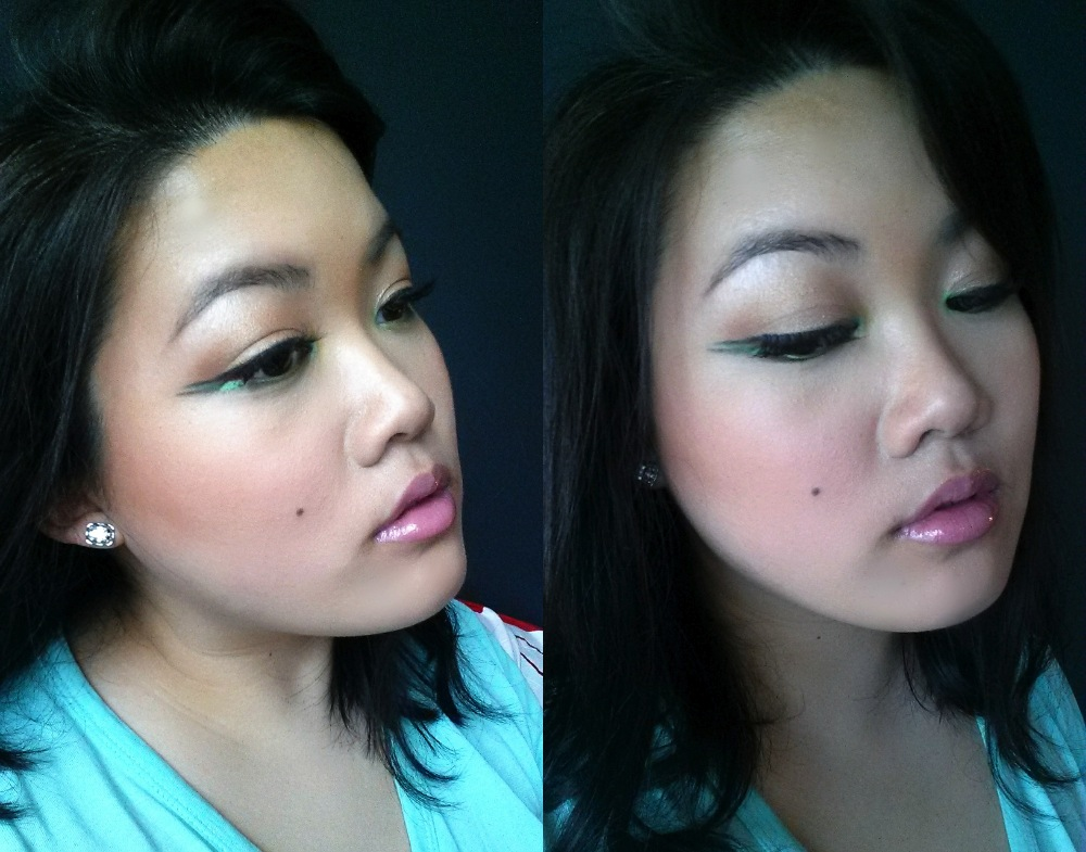 Double-Winged Green Liner with Miranda Collage