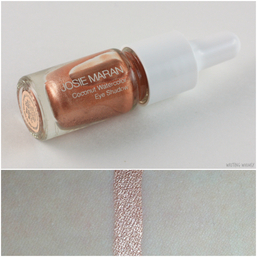 Josie Maran Coconut Watercolor Eyeshadow Rio de Rose Gold 2