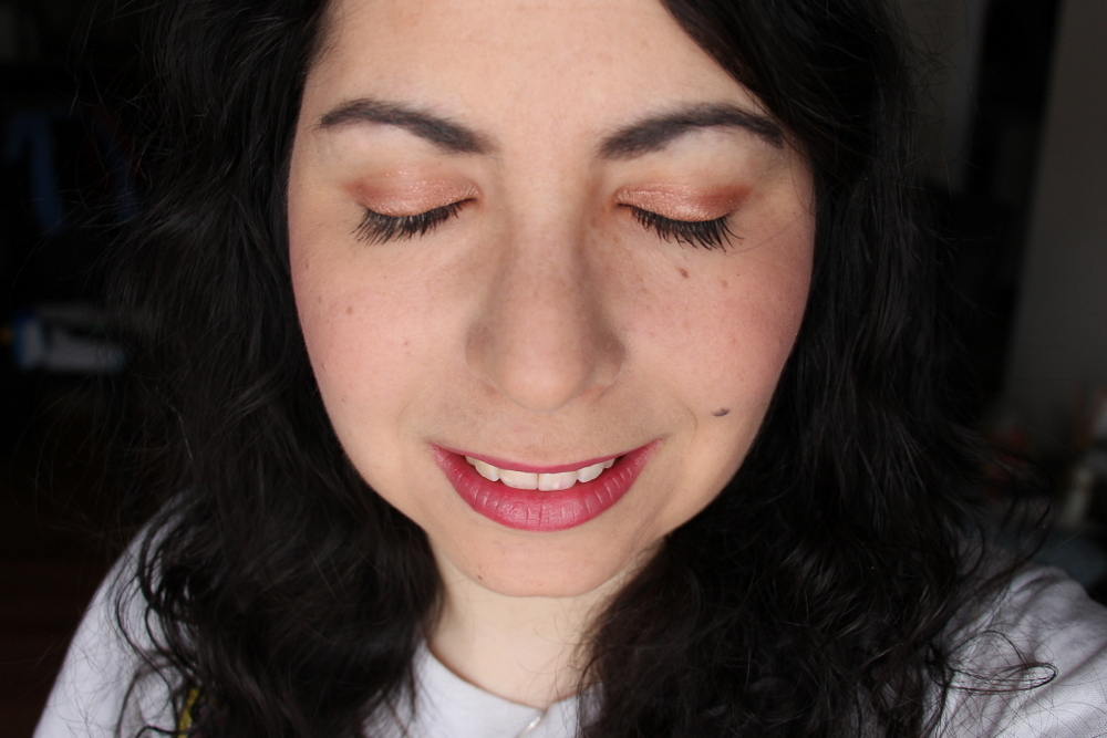 Josie Maran Coconut Watercolor Eyeshadow Rio de Rose Gold Review