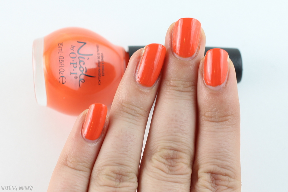 Nicole by OPI Coca Cola The Look is Orange 2