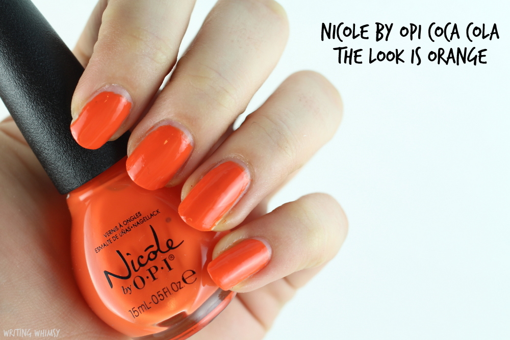Nicole by OPI Coca Cola The Look is Orange