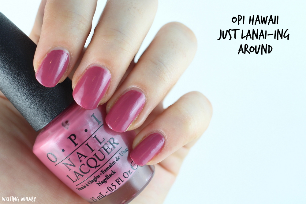OPI Hawaii Just Lanai-ing Around 2