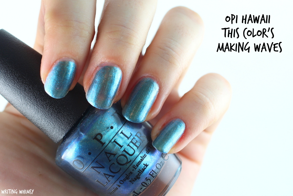 OPI Hawaii This Color's Making Waves 2