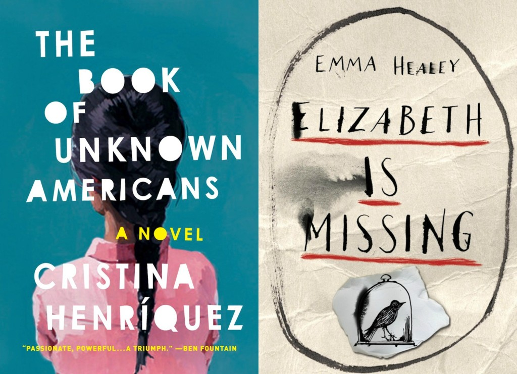 The Book of Unknown Americans by Cristina Henriquez & Elizabeth Is Missing by Emma Healey Collage