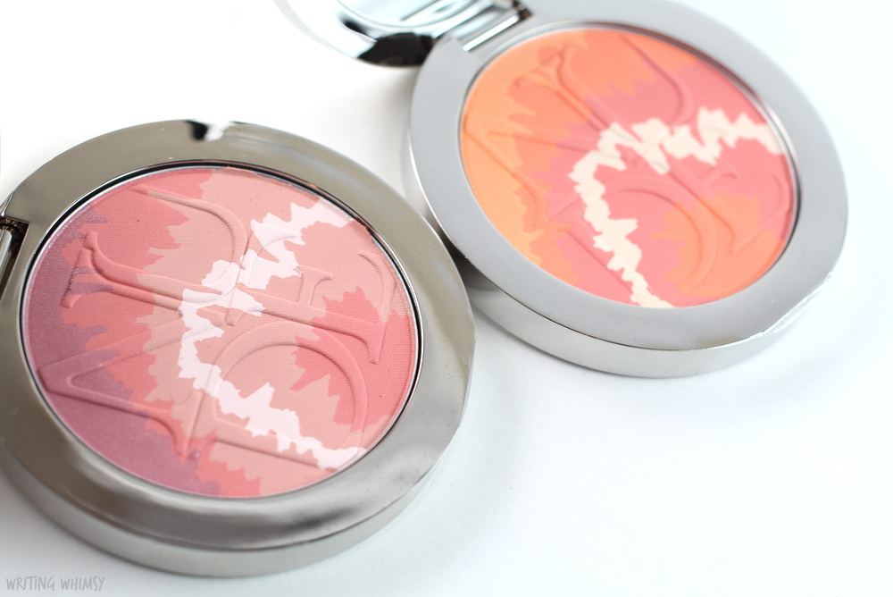 Diorskin Nude Tan Tie Dye Edition Blushes Swatches and Review