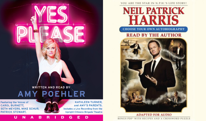 Yes Please by Amy Poehler & Choose Your Own Autobiography by Neil Patrick Harris 2 Collage