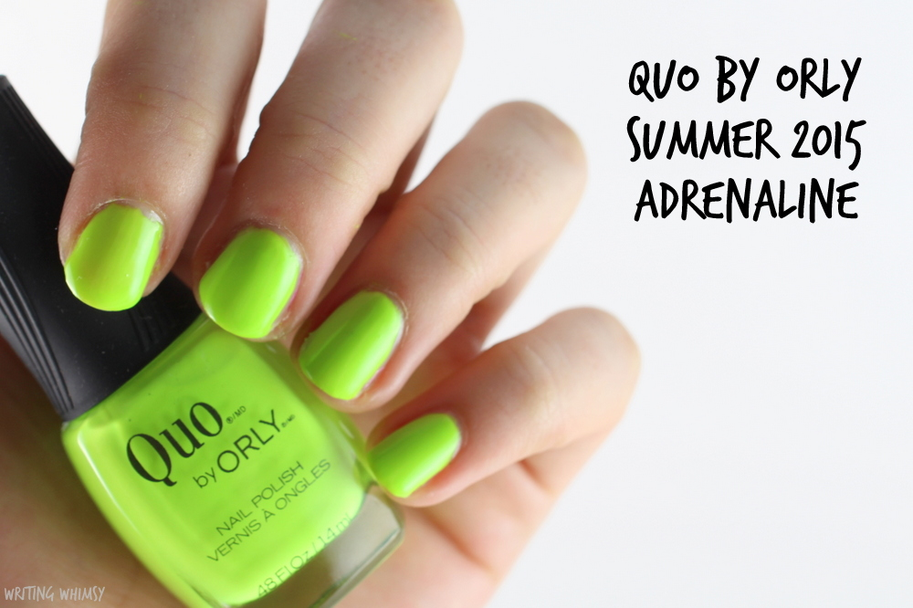 Quo by Orly Summer 2015 Adrenaline