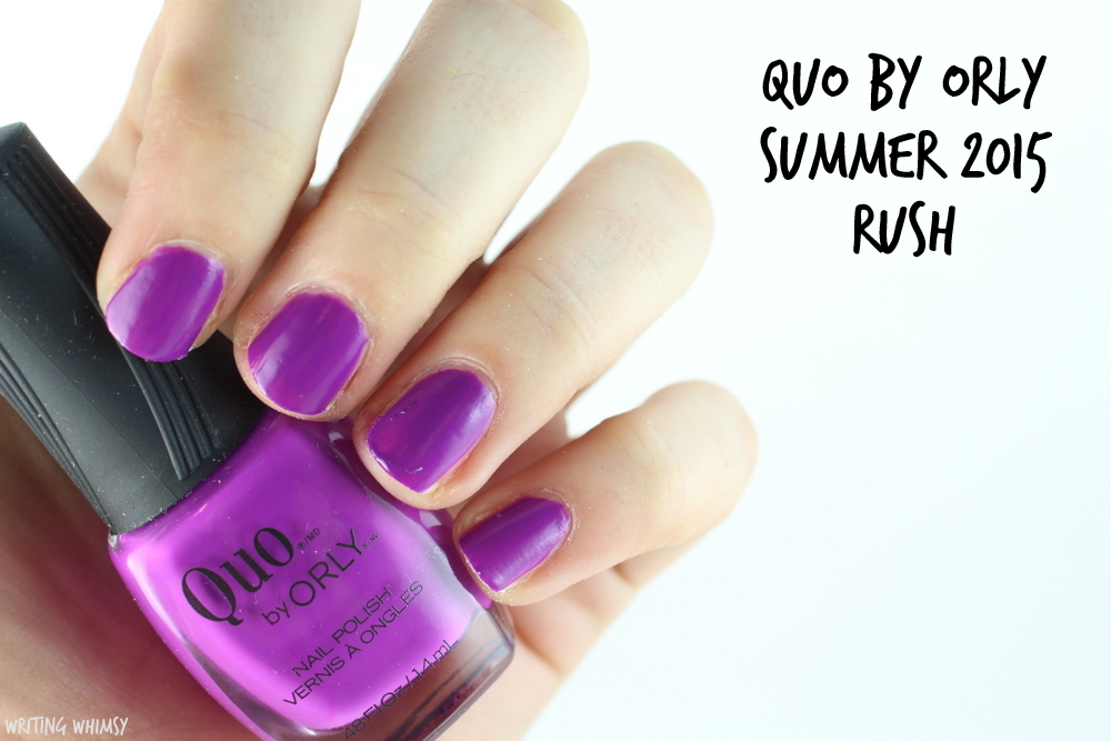 Quo by Orly Summer 2015 Rush