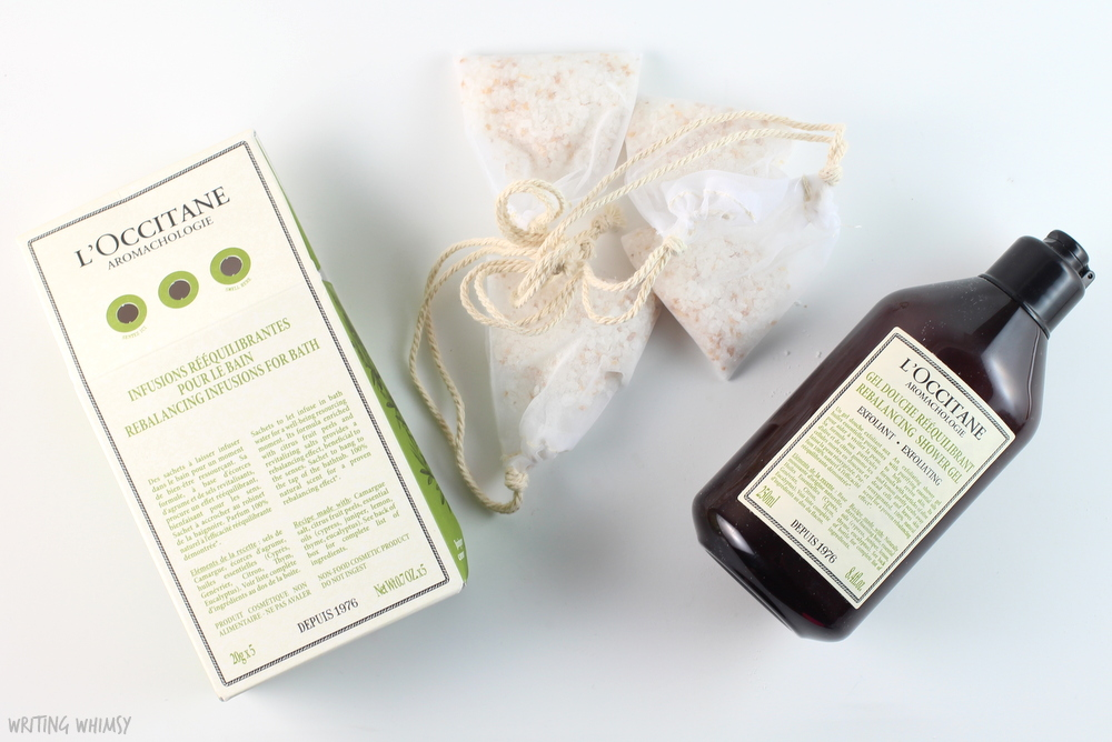 L'Occitane Aromachologie Rebalancing Bath Salts and Exfoliating Shower Gel