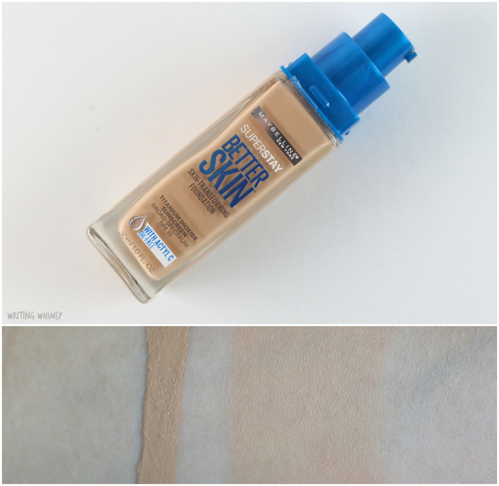Maybelline SuperStay Better Skin Foundation in Nude Beige (25) Swatches 2