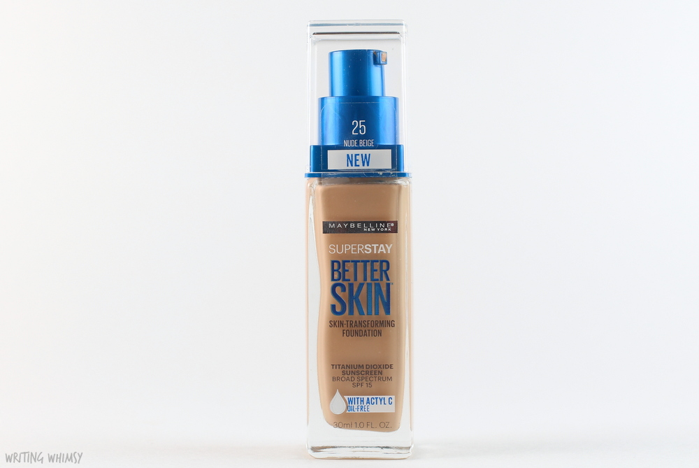 Maybelline SuperStay Better Skin Foundation in Nude Beige (25) Swatches