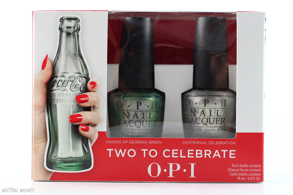 OPI Coca-Cola 2015 Two to Celebrate Set OPI Visions of Georgia Green & OPI Centennial Celebration